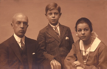 george with zygmunt and rena in 1927