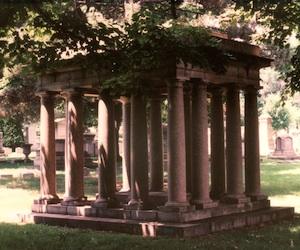 mausoleum left front